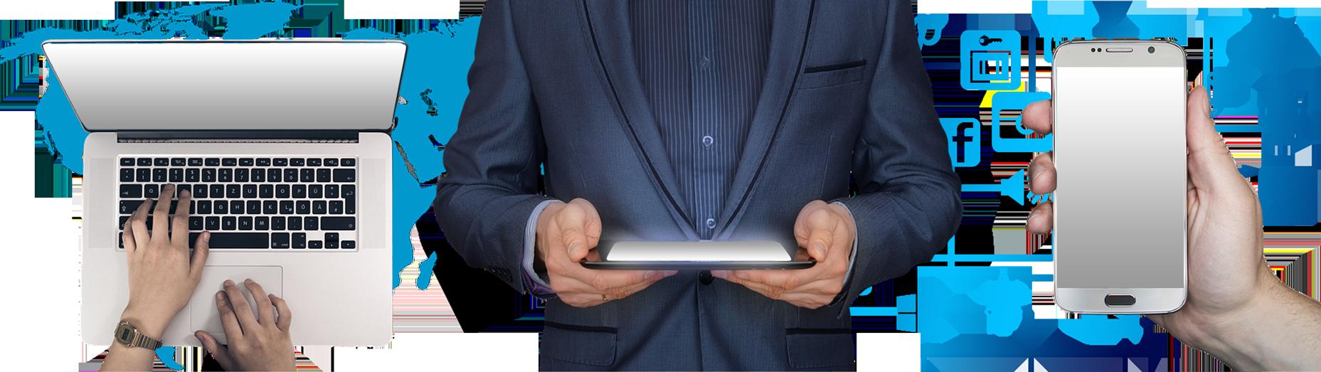 Présence web ordinateur smartphone tablette